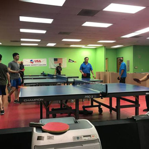 open table tennis play