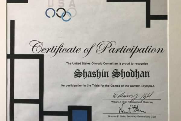 Shashin Shodhan has represented the US as a top performer at the North American Olympic Trials.