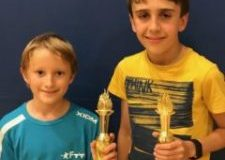 James and Christian excel in tri valley table tennis lessons and tournaments!